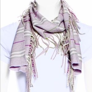 EUC Burberry lilac scarf rare with box and papers
